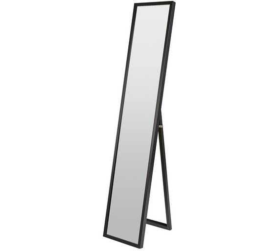 A full-length mirror is great for ensuring you're working out effectively.
