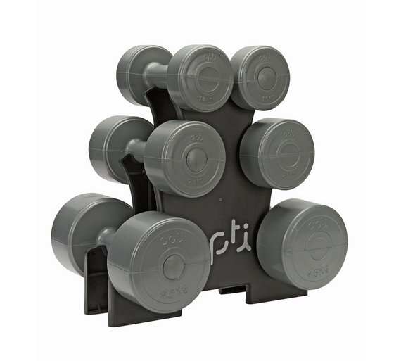 A small set of dumbbell weights or kettlebells can be a great starter for building strength and endurance.