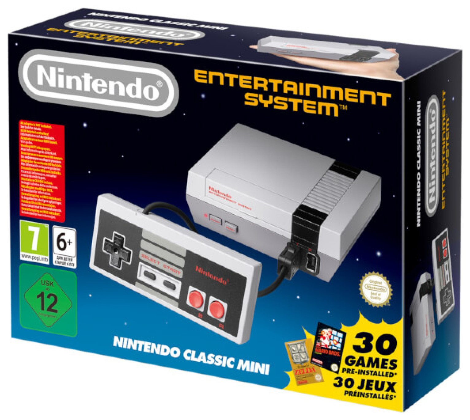 Packed full of classics, the Nintendo Classic Mini NES this will keep any gaming lover occupied for hours at a time!