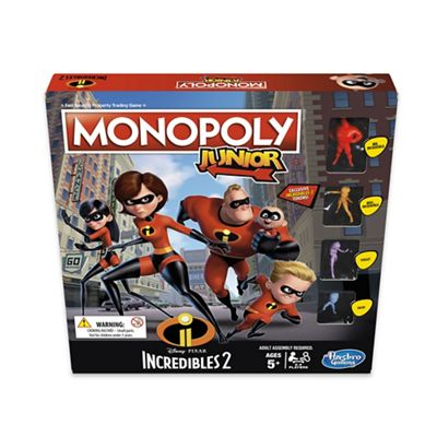 Hasbro - 'Monopoly Junior - Disney Pixar Incredibles 2' property trading game