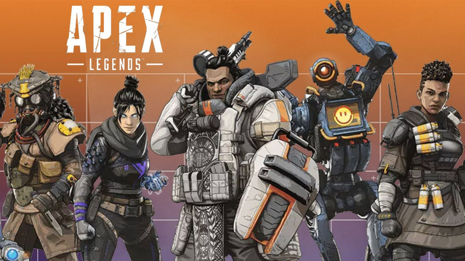 Picture of the possible characters you can play with in Apex Legends