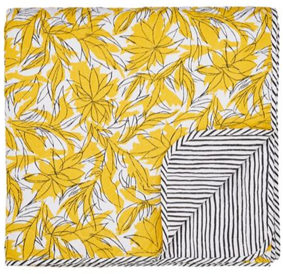 Helena Springfield - Bright yellow polyester and cotton 'Oasis Safari' quilted bedspread
