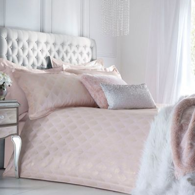 Star by Julien Macdonald - Pink 'Amber' jacquard duvet cover