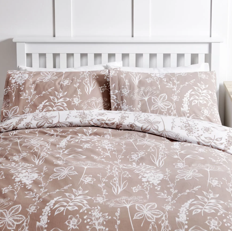 Wilko Botanical Taupe Duvet Set Double
