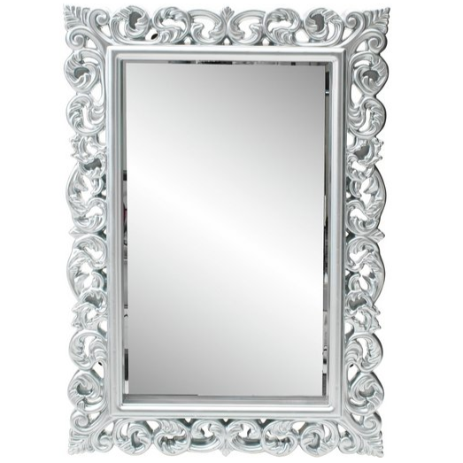 Argos Home Isabella Rec High Gloss Mirror - Silver
