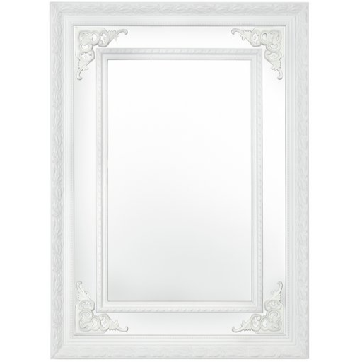 Argyle Mirror - White