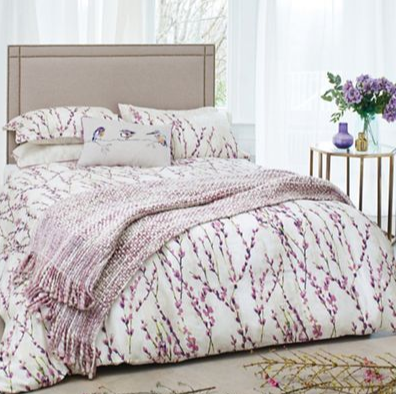 Harlequin - Plum cotton sateen 200 thread count 'Salice' duvet cover