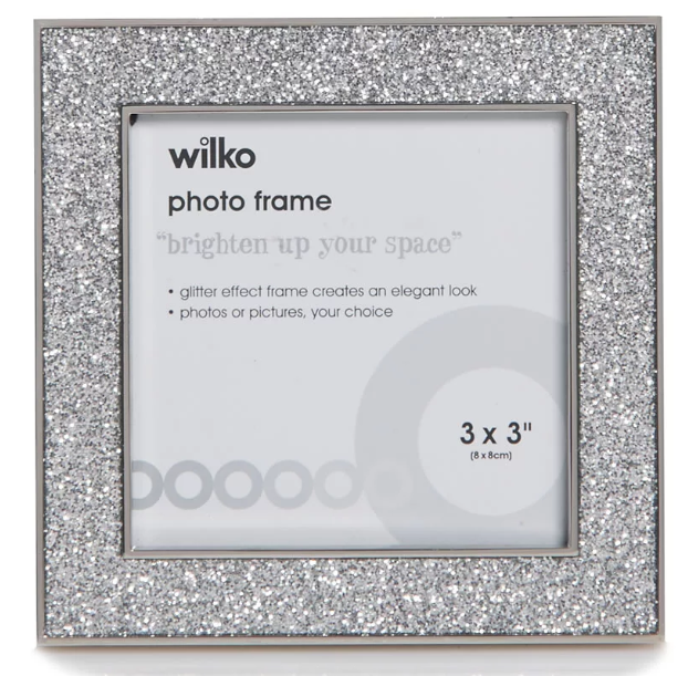 Wilko Glitter Photo Frame 3 x 3in